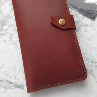 Великий чоловічий портмоне з натуральної шкіри,мужское портмоне из натуральной кожи, клатч,кошелек