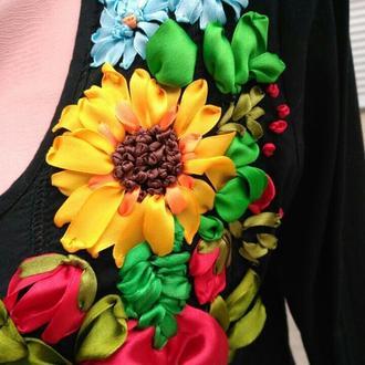 Блуза вышиванка 48р