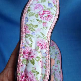Стелька для уличной вязаной обуви, кожаная стелька, тканевая стелька