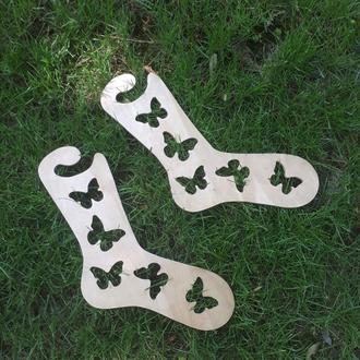 Деревянные блокаторы ′Бабочки′для носков, для фотосессий, держатели формы