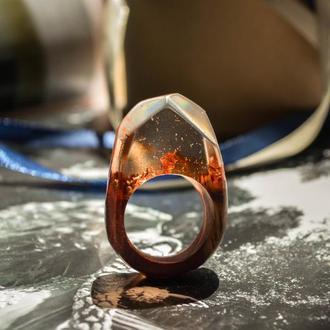 Перстень з екзотичної деревини падук