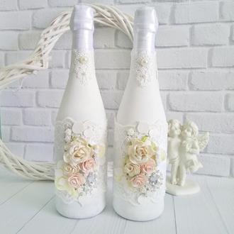 Свадебное шампанское, шампанское на свадьбу, свадебные бутылки