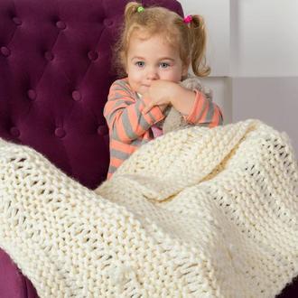 пледик вязаній