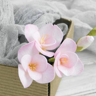 Шпильки Фрезия розовая