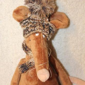 Шапка с шарфом для маленькой собачки