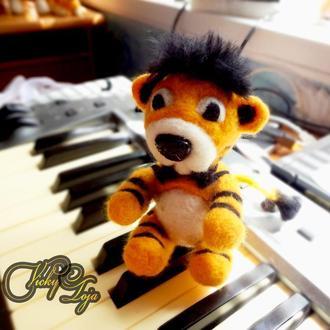 Тигр (валяные игрушки из английской шерсти)