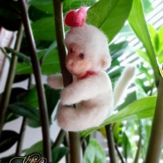 Проказница-Мартышка (валяные игрушки из английской шерсти)