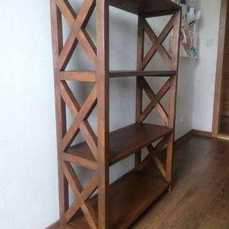 Деревянный стеллаж для игрушек,книг. Деревянный стеллаж для магазина.