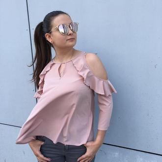 Блуза рюши