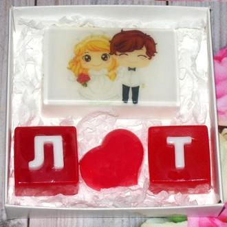 Набір сувенірного мила Весільний