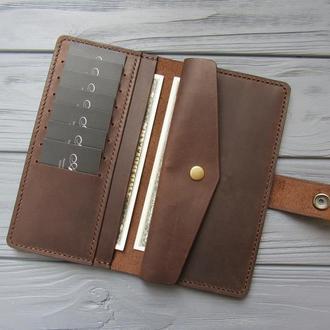 Кожаный женский кошелёк MILANA_темный шоколад_550