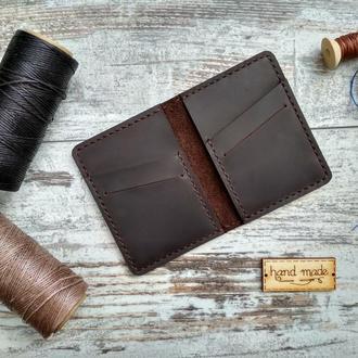 Карт холдер Кредитница  мини кошелек  из натуральной кожи