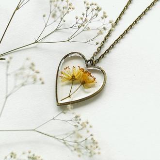 Кулон-сердце с Липой