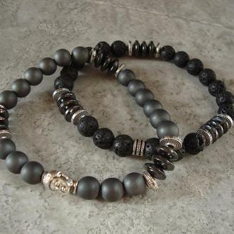 Мужской браслет из натурального камня