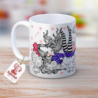Алиса в стране чудес -  чашка с  рисунком