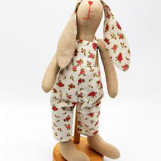Мягкая игрушка «Кролик Мальчик» в стиле Тильда