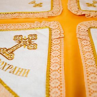 """Крестильная крыжма """"Золотой крестик"""""""