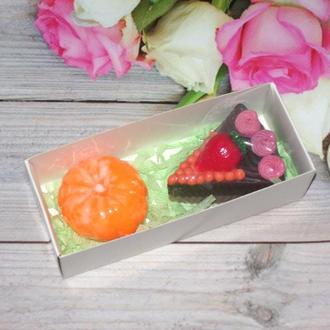 Набор сувенирного мыла Пирожное и мандарин