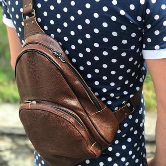 Мужская сумка-рюкзак на одной лямке