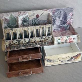 Женский органайзер для косметики, комодик, шкатулка, косметичка, hand-made