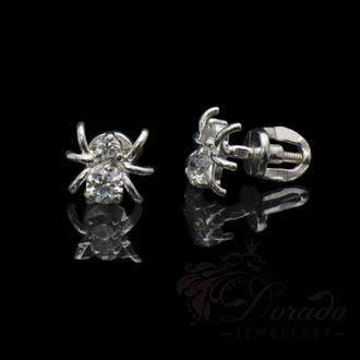 Серебряные гвоздики в виде паучков на закрутке