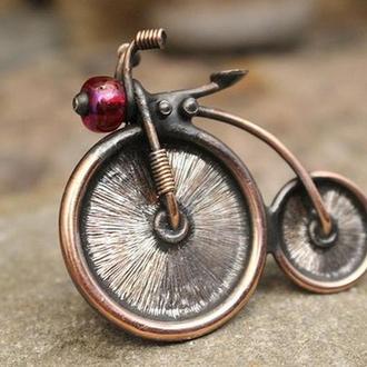 Брошь Ретро велосипед