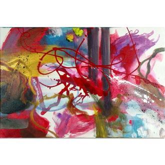 Каляка-1. Абстрактная картина, абстракция акрил на холсте, современная живопись