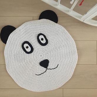 Вязаный ковер мишка панда
