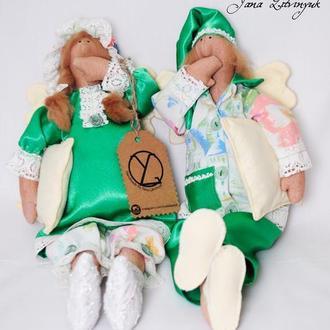 """Куклы тильды """"Сплюшки Энди и Мэнди"""""""