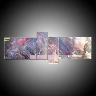 На краю Галактики. Модульная картина из нескольких холстов, абстракция акрил холст космос вселенная