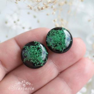 Сережки - гвіздки з зеленими рослинками