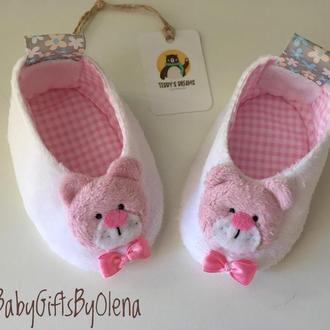 Пинетки Розовые Мишки