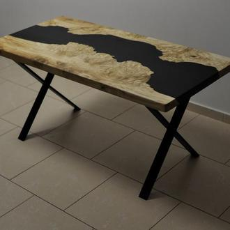 River table. Cтол река. Loft