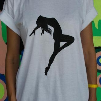 футболка женская с ручной росписью ТАНЦОВЩИЦА