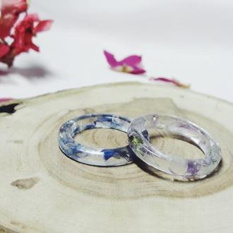 Кольцо с полевым цветком