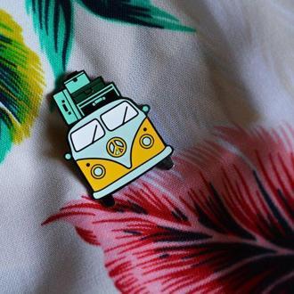 Значок на одежду, значок на обувь, значок на рюкзак, пин эмаль для лета и путешествия, фургончик