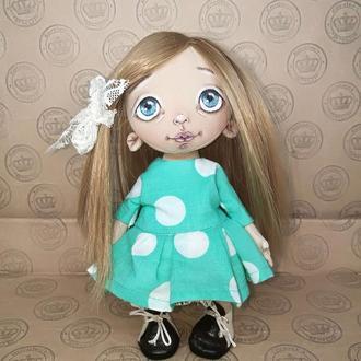 "Текстильная интерьерная кукла ""Ксюша"""