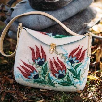 """Валяная сумка ′""""Турецкие мотивы"""""""