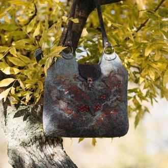 """Валяная сумка """"Ноябрь"""""""