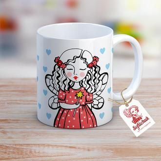 """Дизайнерская чашка с авторским рисунком - """"Сказочная Фея желаний"""""""