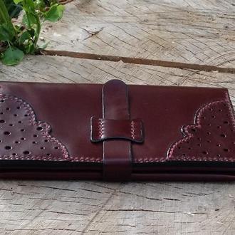 Эксклюзивный кожаный кошелек (женский)