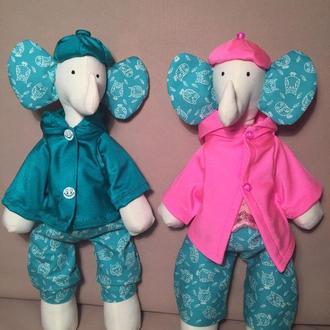 Две игрушки Тильда. Слоник Эмили и Слоник Эллай. Handmade