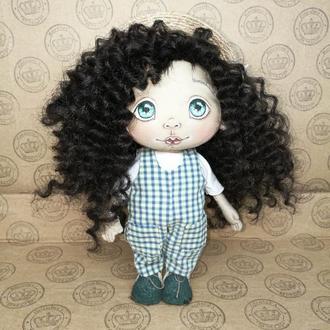 "Текстильная интерьерная кукла ""Кристинка"""