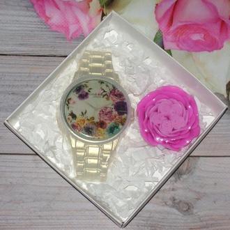 """Набор сувенирного мыло """"Часы и роза"""""""