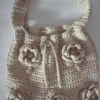 Вязанная женская сумка