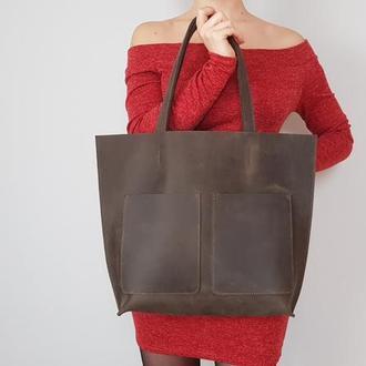 Серо-коричневая сумка Tempo Tote