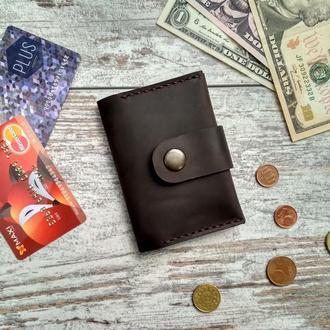 кошелек портмоне монетница карт холдер из натуральной кожи