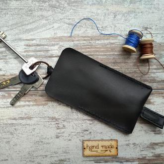 """Ключница чехол для ключей """"Классика"""" 15 см. натуральная кожа"""