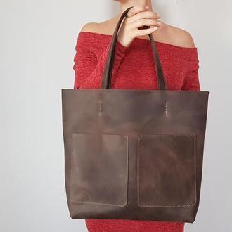 Темно-коричневая сумка Tempo Tote
