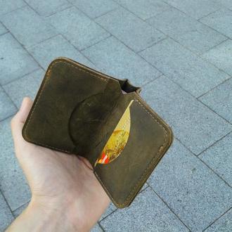 Маленький кошелек из кожи портмоне бумажник.